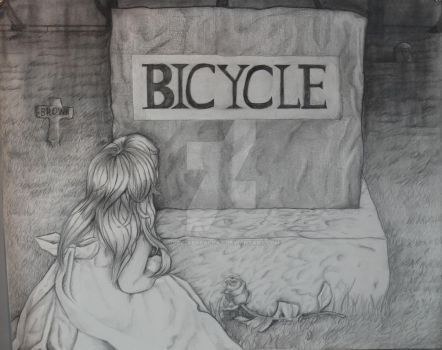 RISD bike drawing by Jade-Abarai-Kat