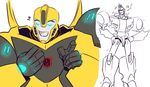 TFRID: Bee and Sideswipe by Succubii