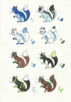 Fox Batch GREEN / BLUE by AtroxReaperJunior