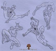 Spidey Poses by MirrorwoodComics