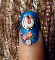 Clock Tower Cinderella Nails by myfairygodmother