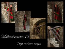 Medieval maiden 13 stock pack by Mithgariel-stock
