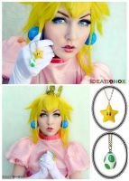 Princess Peach Modeling Ideationox Necklaces by Ideationox