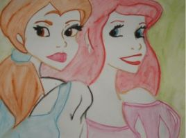 Belle and Ariel by NiveousLamia