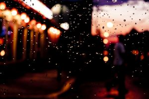 Sunset Raindrops by namespace