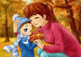 Autumn Bouquet Mom by YuiChi-tyan
