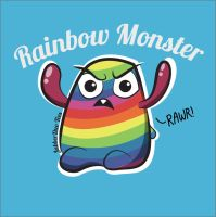 Rainbow Monster by Jabberduo