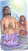 Christ's Baptism by joshthecartoonguy
