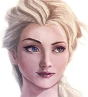 Frozen Elsa sketch by khuon