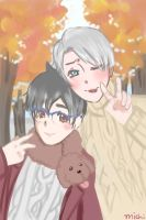 .: Victuuri in Autumn :. by pyonworks