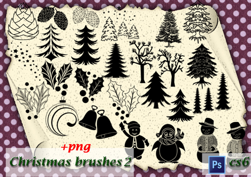 Christmas brushes2 by roula33