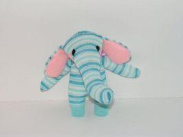 Ellie the Sock Elephant by pinktoque
