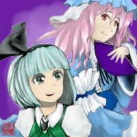 Youmu and Yuyuko by StudioLG