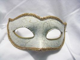 Antique Gold Crackle Masquerade Mask by nightingales-rose
