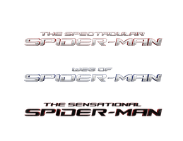 SPIDER-MAN FILM TITLE LOGOS (TASM 2, 3, 4) - PNG by MrSteiners