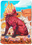 ACEO_Wolf-minori by Kyuubreon