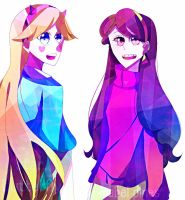 Star and mabel by DarkCatz