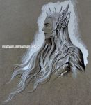 A study of Thranduil by evankart