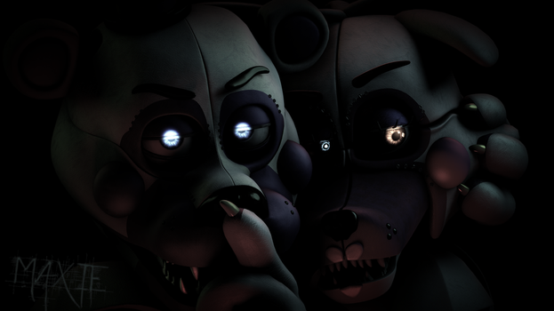 [SFM] Funtime Foxy and Funtime Freddy Render by MaxieOfficial