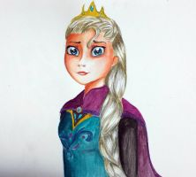 Elsa - Watercolor by Elliepamp