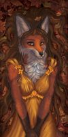 Vixen of golden autumn by EosFoxx