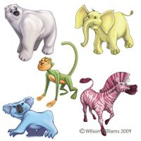 Zoo Animal Spot Sheet by WilsonWJr