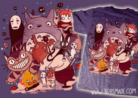 Ghibli Shirt by Bobsmade