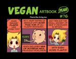 Comic #76: Plants like living too by veganartbook