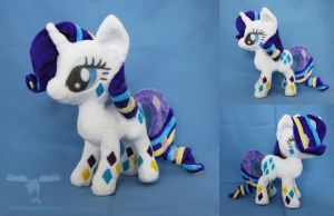 Rainbow Power Rarity plush by dolphinwing