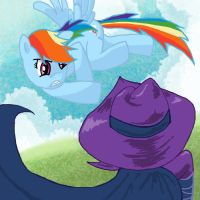 Rainbow Dash VS Mare Do Well by Vahnara