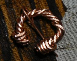 Day 4: Copper Alloy Wire Work Penanular Broach by NightPhoenixArt