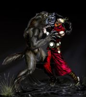 werwolf vs narun by darkangel2582