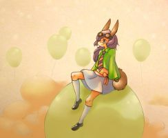 Spring and baloons by claire-pouette