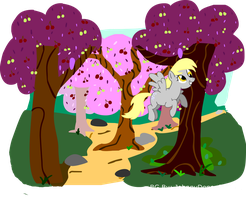 Derpy Cherry Orchard by JohnnyDeppsGirl4life
