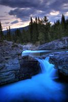 Dusk at Elbow Falls by faerielovely