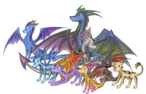 Spyro RPs Group Pic by TwilightTwinkles