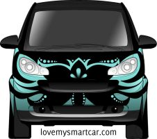 Black Orchid smart car design by rachelthegreat