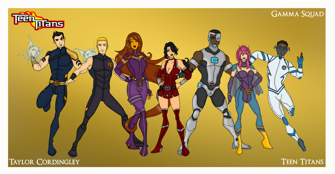 My DCU - Teen Titans Gamma Squad Redesigns by Femmes-Fatales