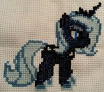 Cross-Stitching - Princess Luna by OtakaraAminelli