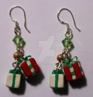 christmas earrings by BlackRoseXOX