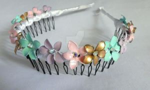 DIY Woodland Fairy Flower Headband Tutorial by RubyReminiscence