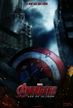 Avengers: Age of Ultron Movie Poster -Capt America by AncoraDesign