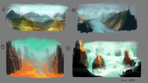 Colour Landscape Thumbnails by izzyleidlwilson