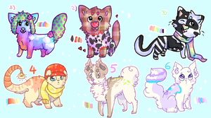 Collab Adopts with Doki-i! - LOWERED PRICES by Ice-Flakes
