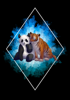 Panda Tiger Love by EmagineNationS