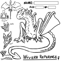 Basic Wyrven Dragon Adoptabe / Reference Lines by DimensionXXIV