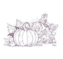Pumpkin Carving Party by frogbillgo