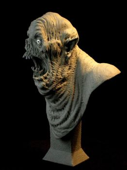 Creature bust No.2 - side view by revenant-99