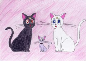 Luna, Artemis and Diana by maskeraderosen