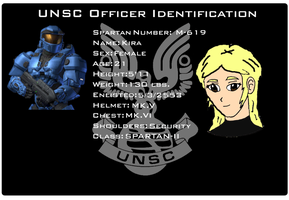 Kira UNSC Identification Card by EX388